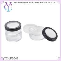 high quality small black plastic acrylic cosmetic jar
