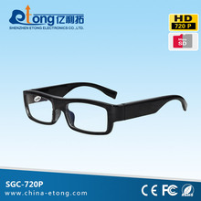 Simple style and thin hd camera glasses, world smallest hidden video camera