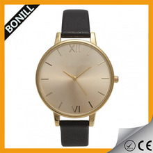 Vogue uniform wares minimal leather watches women leather watch with japanese movement