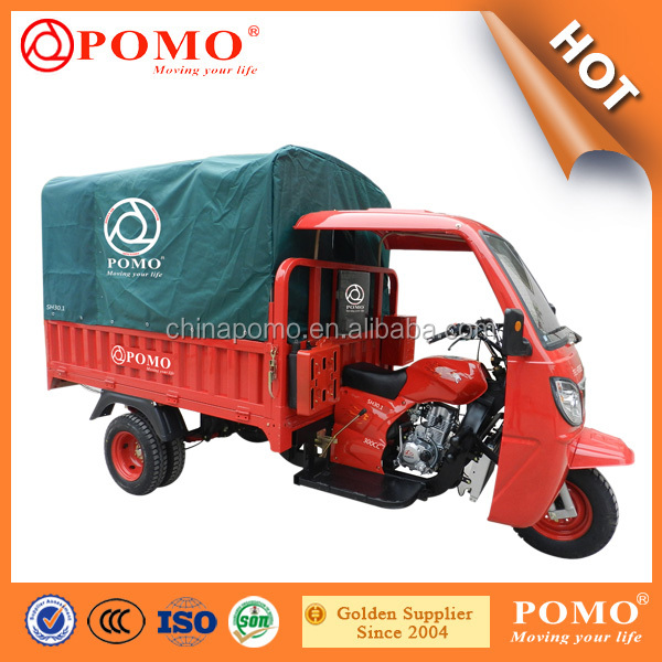 2016 Chinese Strong Water Cooled Motorized Cargo 300CC Chongqing Three Wheel Bicycl For Adult