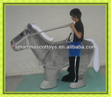 adult horse 2 persons mascot costume