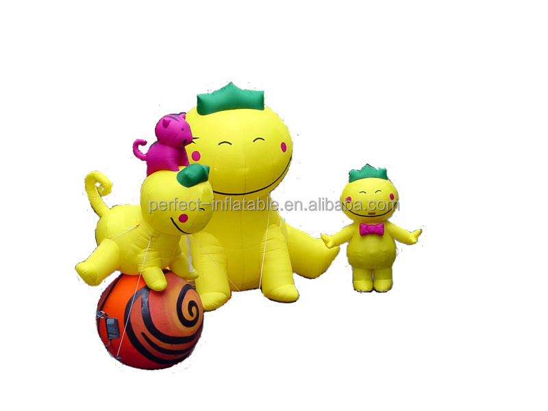 Cute and adorable inflatable dog family model cartoon for backyard decoration