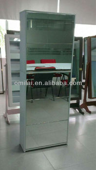 5 drawers shoe cabinet with mirrors