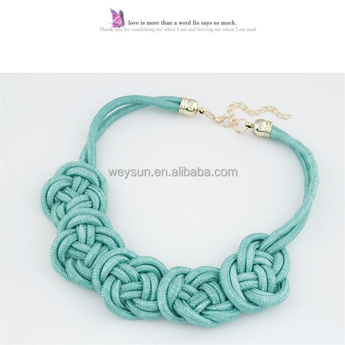 2017 New design fashion necklace Chinese knot necklace