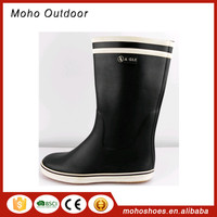 Half Hangzhou Aigle 100% natural rubber rain shoes wholesale solid waterproof rubber clear goumboot