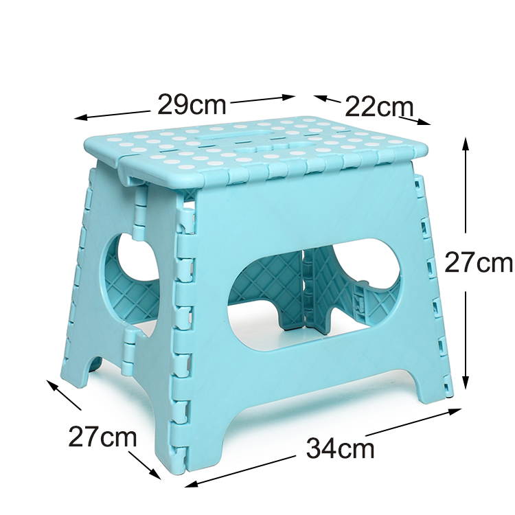 11 inches ottoman height portable baby child cheap square garden kitchen lightweight fold step stool plastic folding stool