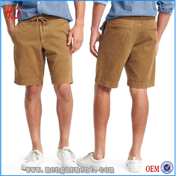 Dongguan Hot Sell Mens Corduroy Shorts Brown Drop Crotch Shorts