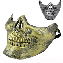 Plastic Cheap Horror Skull Half Face Mask