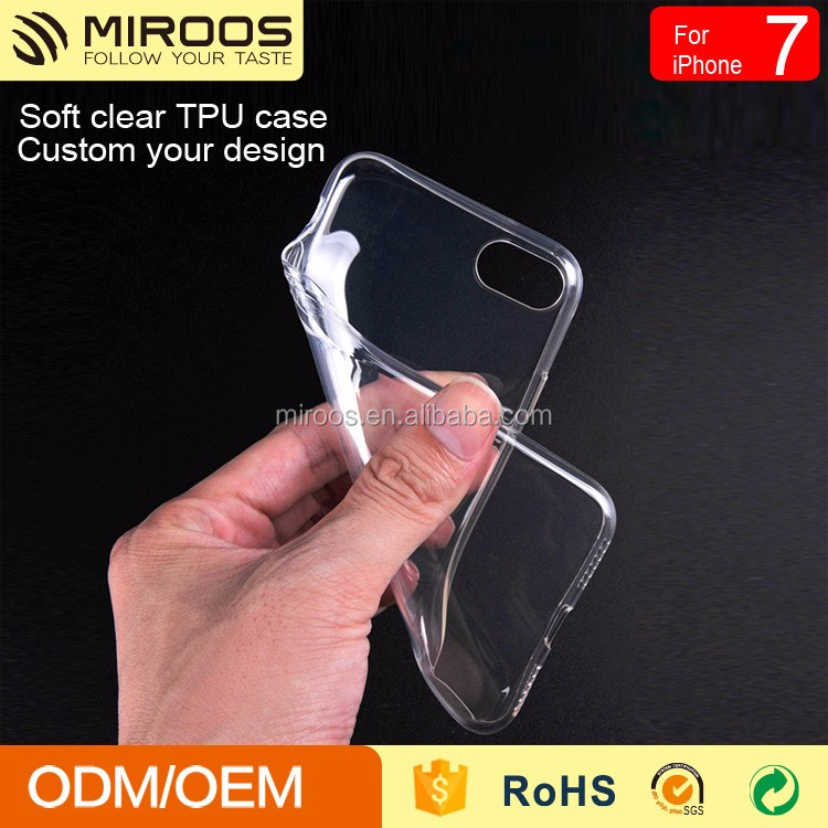 Simple mobile cover Clear TPU phone case for custom in stock
