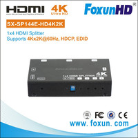 Home Audio/Video 1x4 HDMI Sender/Receiver Video Projector Splitter, Supports resaolution 4Kx2K@60Hz(YUV 4:2:0)
