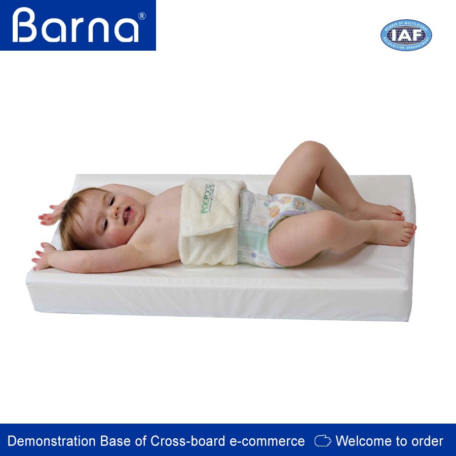 anti roll baby sanitary diaper changing pad, China factory baby changing mat