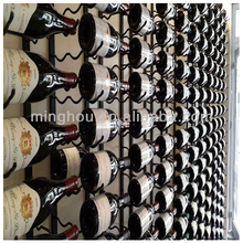 36 bottle wall mounted metal wine rack