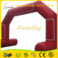 The most attractive 0.6mm thickness PVC tarpaulin inflatable arch, inflatable event archway, inflatable finish line arch