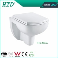 HTD-K807A Best Design Ceramic Wall Mount Water Closets