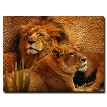 mail and female lion canvas picture paintings for sale
