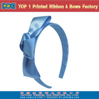 2015 new style blue satin ribbon hair accessories