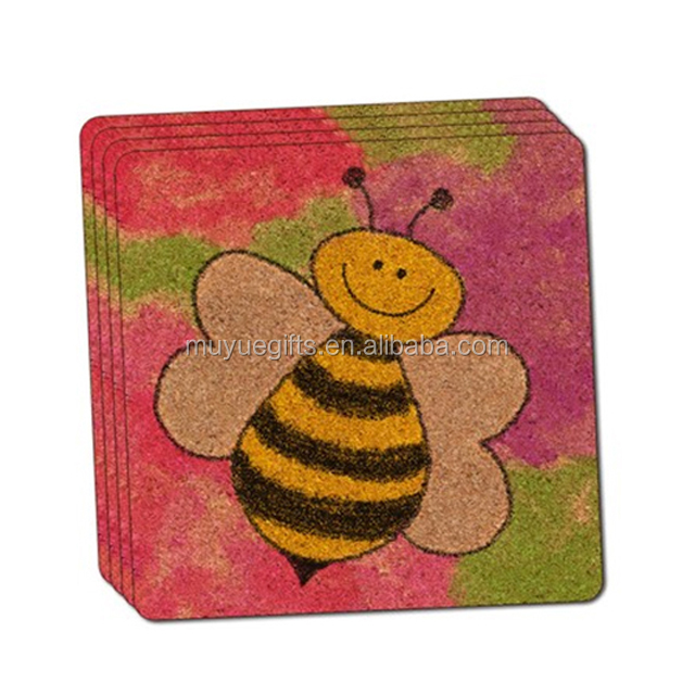 Hot selling customized cork  beer coaster