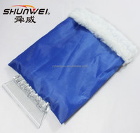 PROMOTION manufactory plastic car ice scraper with gloves