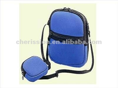 neoprene cd holder bags with blue color