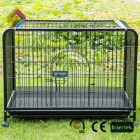 Iron fence dog kennel with thick folds