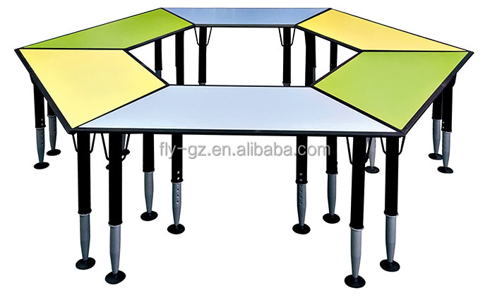 Height Adjustable Classroom Furniture School Desk In School Set / Used  School Desk And Chair For