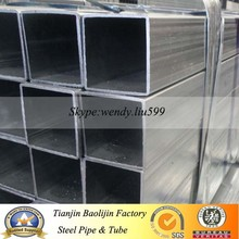 Q235 straight seam steel pipe.galvanized square tube size