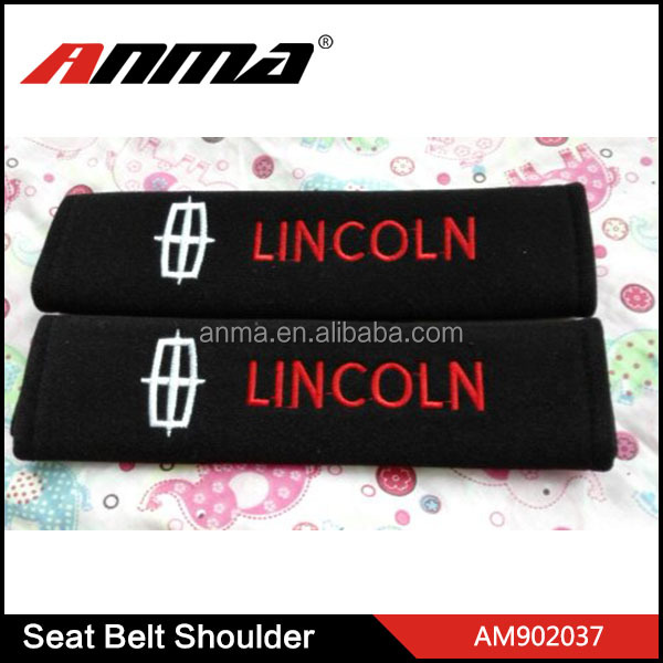 HOT SALE car logo seat belt cover / interior decoration safety belt guard