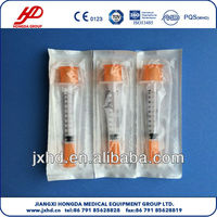 Safty Medical Disposable Insulin Syringe
