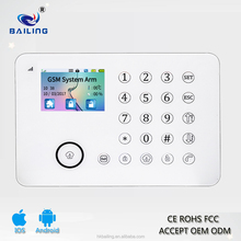 2017 New Product PSTN RFID Tag Wireless Intruder Security GSM Home Alarm System with APP control GSM Alarm