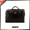 A Large expandable dark leather briefcase travel duffel bag for men.handbags briefcase