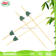 7cm heart shape fruit bamboo skewer for kid party