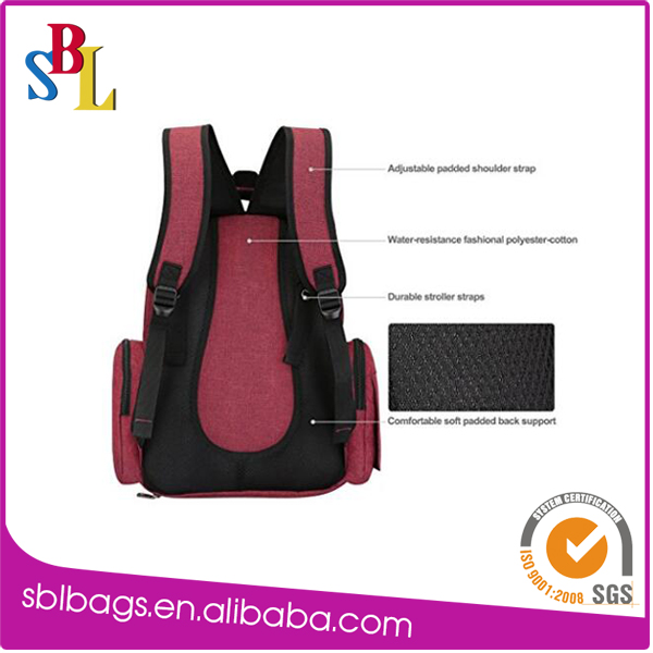 Made in China diaper backpack with insulated pockets Best price high quality
