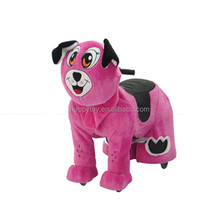 Plush singing animal coin operated kiddie rides ride on walking animal toy for rental