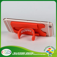 New style silicone cell phone case credit card holder