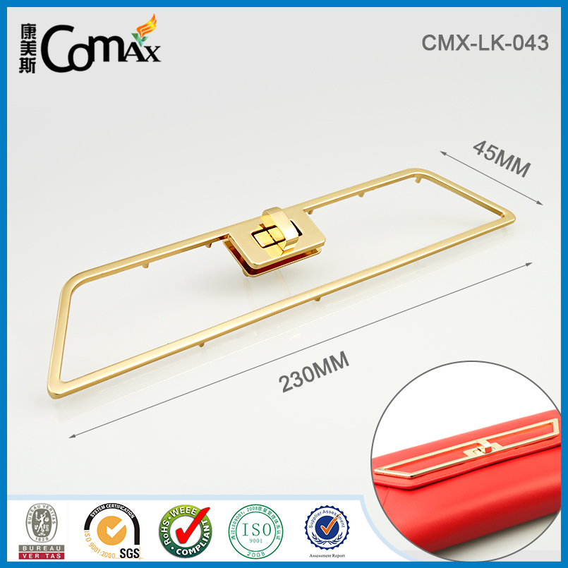 Decorative Frame With Metal Twist Lock For Clutch Bag