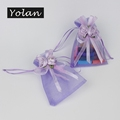 wholesale organza bags with logo ribbon