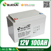 Bluesun ISO CE gel battery storage 12v 100ah lead acid battery
