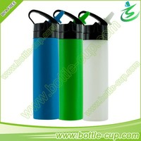 600ml silicone squeeze foldable water bottle for sports