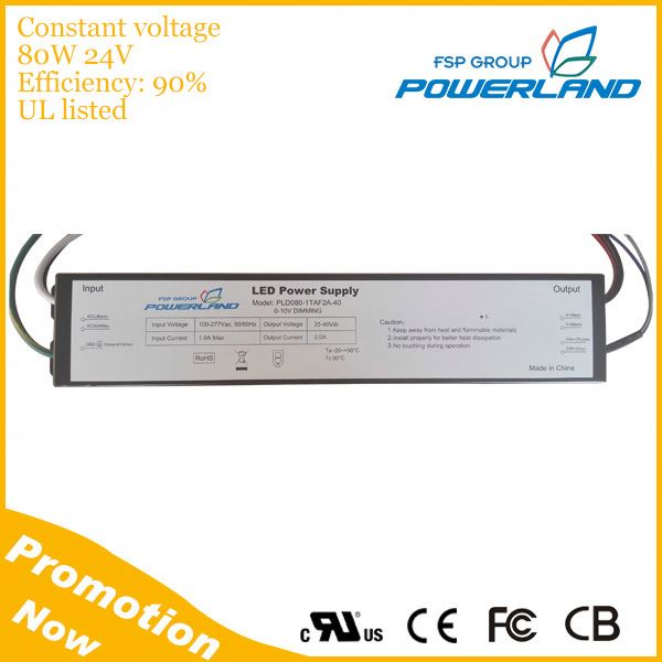 80W 3.33A Constant Voltage LED Strip Driver 24V
