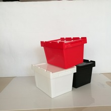 30L Security Attach Lid Stackable Plastic Storage Bin