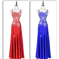 2017 New Sexy High-Grade Female Girls Latin Dance Dress Diamond Cha cha Flamenco Dresses For Woman 5 Colors