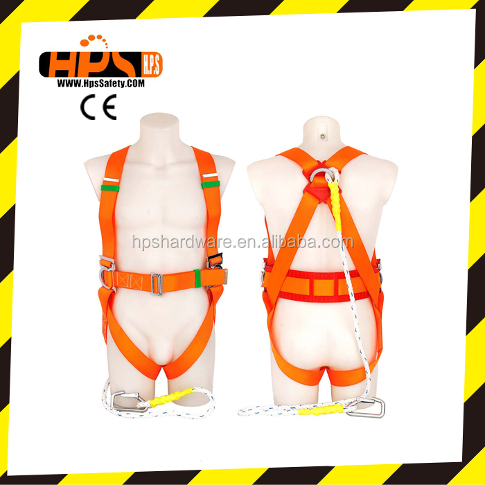 CE Certificated Top Quality Full Body Fall Arrest Safety Belt Safety Harness