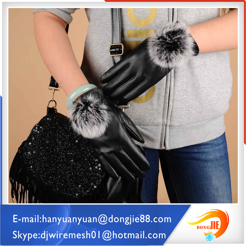 Professional factory western safety gloves black pattern leather gloves