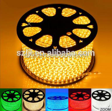 2016 NEW SMD3014 Yellow flexible 100m/roll 110V 220V led strip for clothes