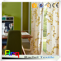 luxury european style window curtain floral printed living room curtain arab style curtains