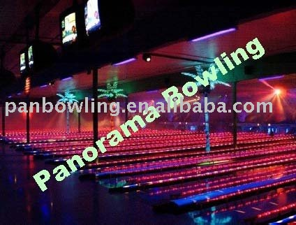 LED single capping for bowling equipment