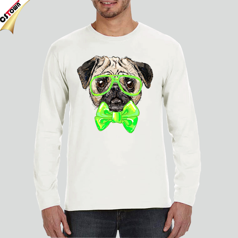 Wholesale printing t shirt 100 combed cotton long sleeved for Wholesale printing t shirts