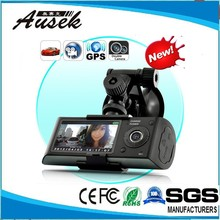 2.7''LCD GPS scanning and positioning dual camera dvr car full hd
