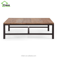 Long Wood Coffee Table With Metal Legs Reclaimed Wood Iron Furniture
