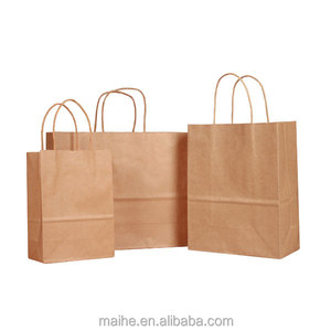China Supplier Stocked Recycled Brown Cheap Kraft Paper bag